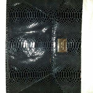 Michael Kors Bags - SOLD: MICHAEL KORS BLACK PYTHON EMBOSSED CLUTCH